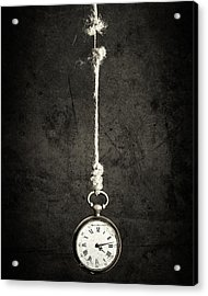 Time Is Up Acrylic Print by Sergio Rapagn??
