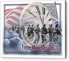 Time Marches On Acrylic Print