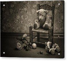 Time Out - A Teddy Bear Still Life Acrylic Print by Tom Mc Nemar
