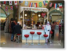 Time Out Snack Bar In Bath England Acrylic Print by Jack Schultz