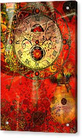 Time Passes Acrylic Print by Ally  White