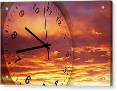 Time Passing Acrylic Print by Les Cunliffe