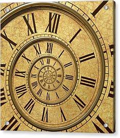 Time Spiral Acrylic Print by David Parker
