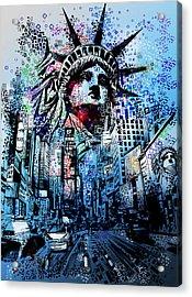 Times Square 2 Acrylic Print by Bekim Art