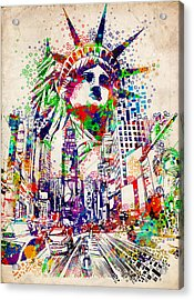 Times Square 3 Acrylic Print by Bekim Art
