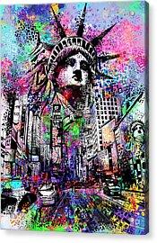 Times Square Acrylic Print by Bekim Art