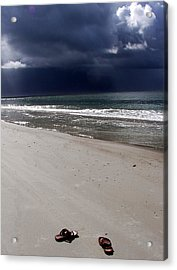 Time To Go Acrylic Print by Karen Wiles