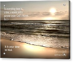 Time To Heal Acrylic Print by Jeffery Fagan