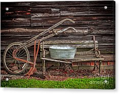 Time To Plow Acrylic Print by Marion Johnson