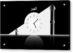 Time To Pray. Al-fajr. Acrylic Print by Islamic Cards