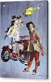 Time Travel With Oldtimer Acrylic Print by Taidakov Nikolai