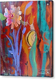Acrylic Print featuring the painting Time Traveler by Robin Maria Pedrero