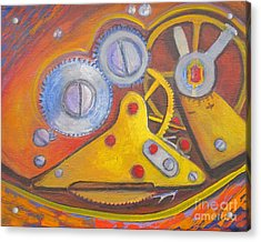 Time Unfolding Study Acrylic Print by Vivian Haberfeld