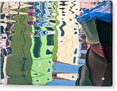 Timeless Colors Of Burano Acrylic Print by Joan Herwig