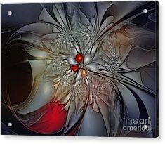 Timeless Elegance-floral Fractal Design Acrylic Print by Karin Kuhlmann