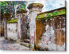 Acrylic Print featuring the photograph Brick Wall Charleston South Carolina by Vizual Studio