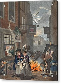 Times Of Day, Night, Illustration Acrylic Print by William Hogarth