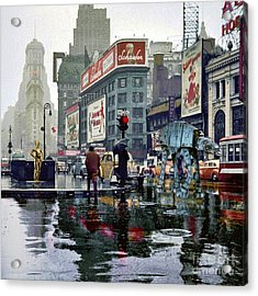 Times Square 1943 Reloaded Acrylic Print