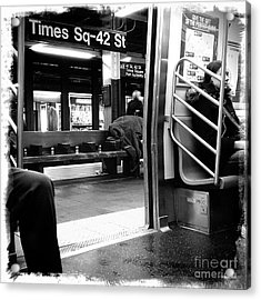 Times Square - 42nd St Acrylic Print by James Aiken