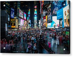 Times Square Acrylic Print by Chris McKenna