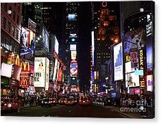 Times Square Colors Acrylic Print by John Rizzuto