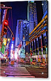 Times Square Acrylic Print by Dan Sproul