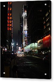 Times Square From 7th Ave Acrylic Print