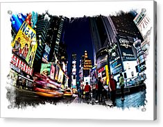 Times Square Acrylic Print by James Howe