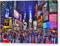 Times Square Acrylic Print by Kamila  Gornia