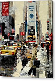 Times Square '95 Acrylic Print by Michael Swanson
