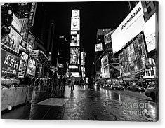 Times Square Mono Acrylic Print by John Farnan