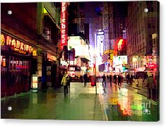 Times Square New York - Nanking Restaurant Acrylic Print
