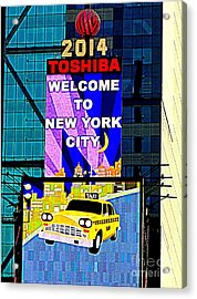 Times Square New Years Eve Ball Acrylic Print by Ed Weidman