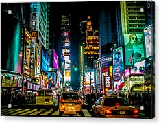 Times Square Nyc Acrylic Print by Johnny Lam