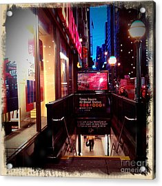 Times Square Station Acrylic Print by James Aiken