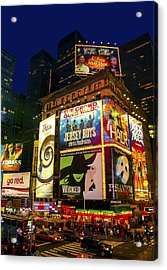 Times Square Acrylic Print by Svetlana Sewell