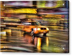 Times Square Taxi I Acrylic Print