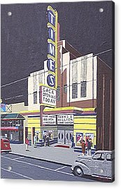 Times Theatre Acrylic Print by Paul Guyer
