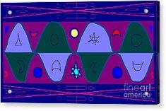 Timewave Acrylic Print by Meenal C