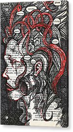 Tin Woman Acrylic Print by Stacey Pilkington-Smith