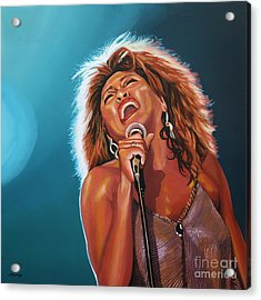 Tina Turner 3 Acrylic Print by Paul Meijering