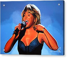 Tina Turner Queen Of Rock Acrylic Print by Paul Meijering