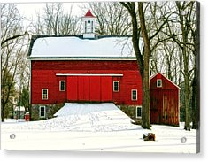Tinicum Barn In Winter II Acrylic Print