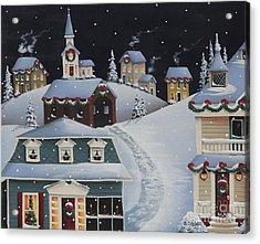 Tinsel Town Christmas Acrylic Print by Catherine Holman