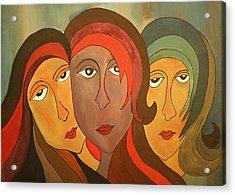 Tinted Girls Acrylic Print by Remya Damodaran