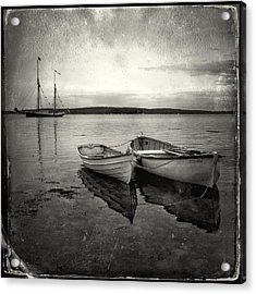Tintype Boats 3 Acrylic Print by Fred LeBlanc