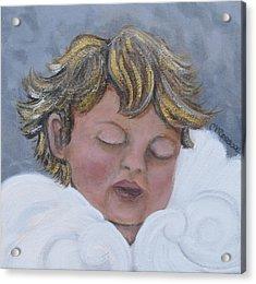 Tiny Angel Acrylic Print by Melissa Torres