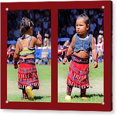 Tiny Jingle Dancer Acrylic Print by Theresa Tahara