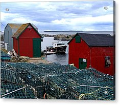 Tiny Little Harbour Acrylic Print by Janet Ashworth