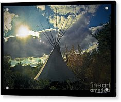 Tipi Morning Color Acrylic Print